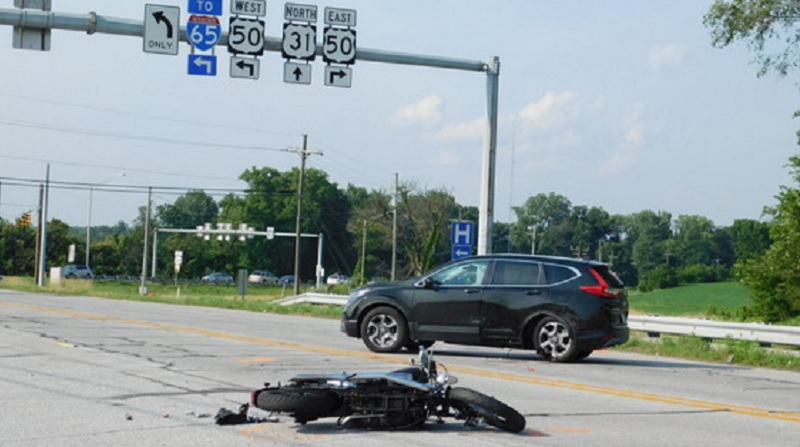 Seymour driver hurt in motorcycle accident